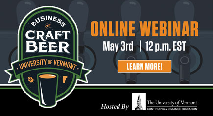 Online Webinar for Beer Program May 3, Noon. Register Here