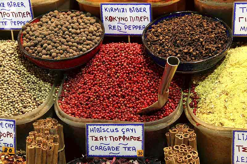 Spices and Tea at a Turkish Market